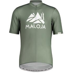 Maloja SanetschM. 1/2 Fietsshirt Korte Mouwen Heren, cypress